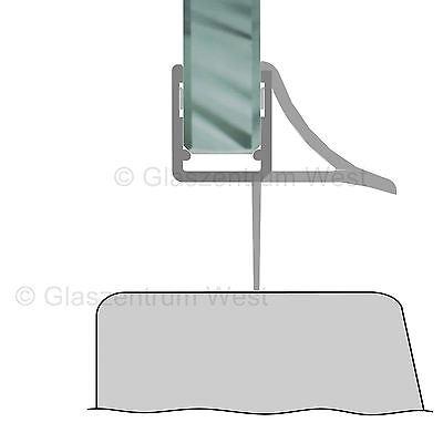 Duschdichtung Wasserabweiser Duschprofil Streifdichtung Schwall 5-8 mm, 20cm-2m 5