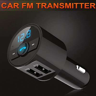 Wireless Bluetooth FM Transmitter Car Dual USB Charger MP3 Player Handsfree Call 5
