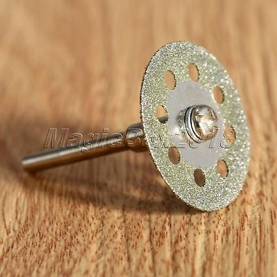 10pcs Circular Saw Blades Diamond Cutting Wheel Discs + Mandrel For Rotary Tool 6