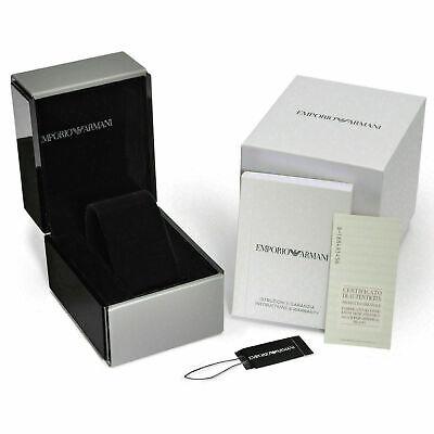 New Emporio Armani Men's Watch Ar1410 Black/Rose Gold Ceramica Chronograph 11