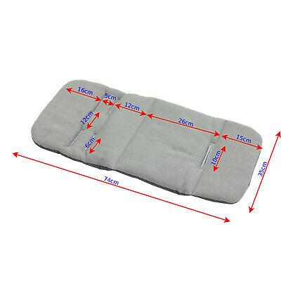 Pram stroller buggy LINER INSERT soft washable universal  Grey Melange Denim 2