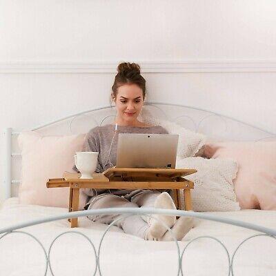 Table de lit pliable pour PC portable notebook tablet bambou + USB ventilateur 5