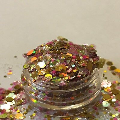 Chunky Glitter Loose Mix Pot Eye Shadow Nail Face Tattoo Festival Club Cosmetic 6