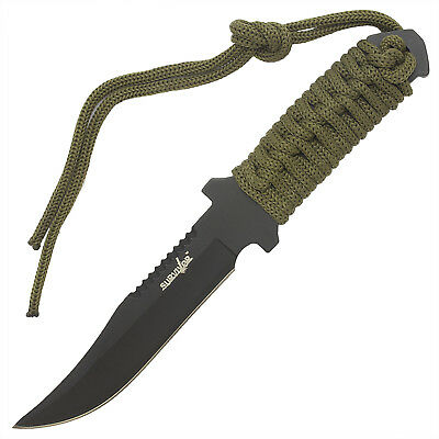 "7.5"" TACTICAL COMBAT BOWIE FIXED BLADE HUNTING KNIFE Throwing Survival Military 4"