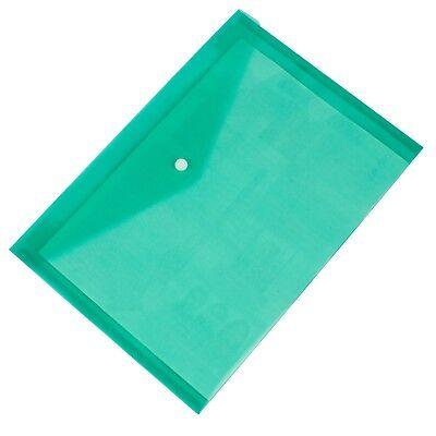 A4 Plastic wallets.Stud Document Wallet Files Folders Filing School Office 12