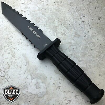 "12"" TACTICAL BOWIE SURVIVAL HUNTING KNIFE MILITARY Combat Fixed Blade w/ SHEATH"