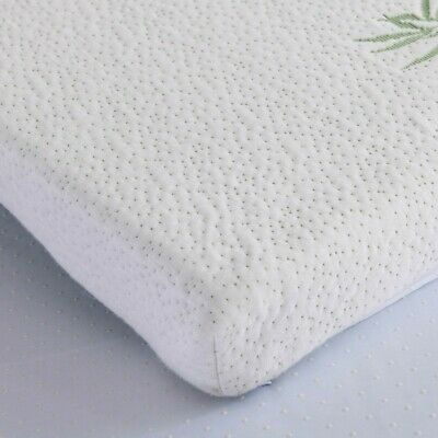 Bamboo Memory Foam Mattress Topper Thick With Zipped Cover 5