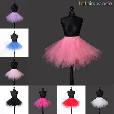 Tütü Petticoat Tüllrock Reifrock Ballettrock Karneval asymmetrisch Damen Kinder 3
