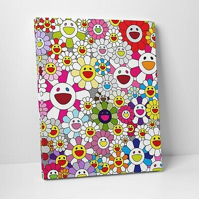 """16X20"""" Gallery Art Canvas: Takashi Murakami Flowers Smiley Faces Complexcon! 3"""