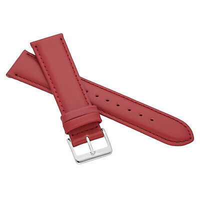 MARCHEL Lederarmband LLB Premium Glatt Silber Gold Schließe Uhrenarmband Uhr 7