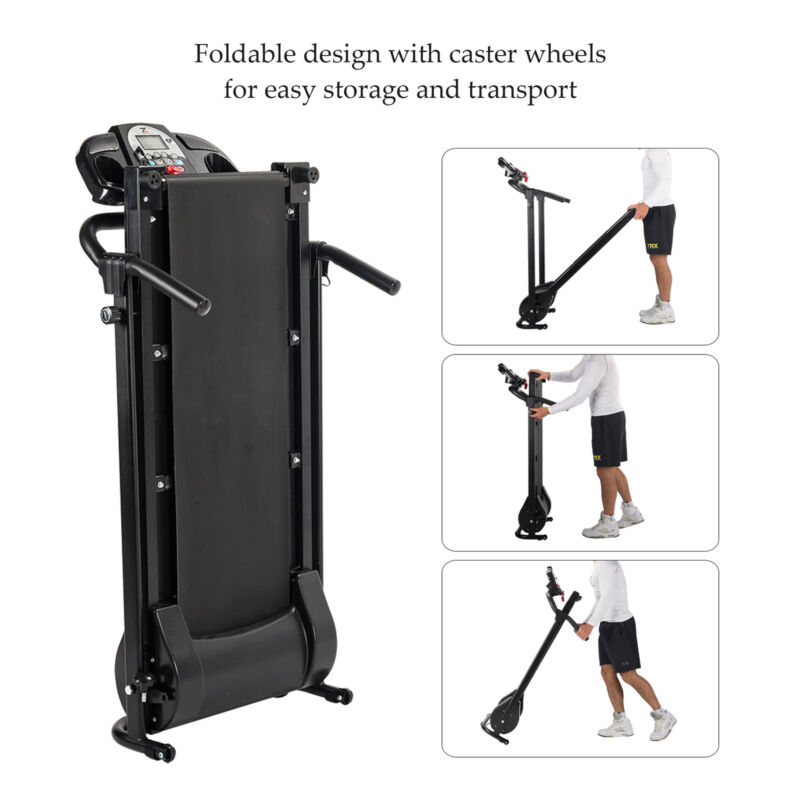 Folding Treadmill Electric Motorized Power Running Jogging Fitness Machine 5