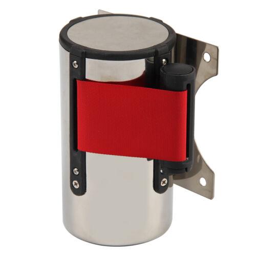 5M Rojo CinturóN Stanchion Barrera de Control Multitud Montaje Pared Retráctil 7
