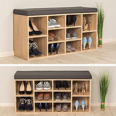 Estanter a zapatero de madera con banco s lida taburete estantes calzado roble eur 176 99 - Estanteria zapatero ...