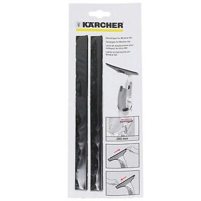 KARCHER WV2 WV5 WV50 Window Vacuum Vac Rubber Lip Squeegee Blades 280mm x 6 2
