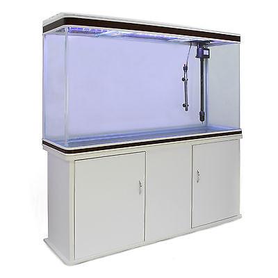 Fish Tank Aquarium Complete Set Up Tropical Marine 4ft 300 Litre White Cabinet 5