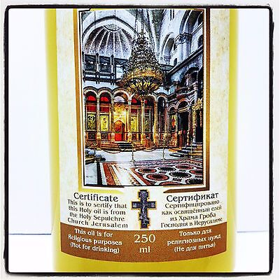 ANOINTING OIL FRANKINCENSE Myrrh Blessed in Holy Sepulchre Jerusalem Oil  250 ML