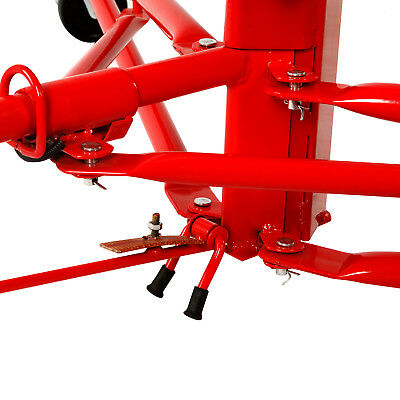 NEW 11' Drywall Lifter Panel Hoist Jack Rolling Caster Construction Lockable Red 9