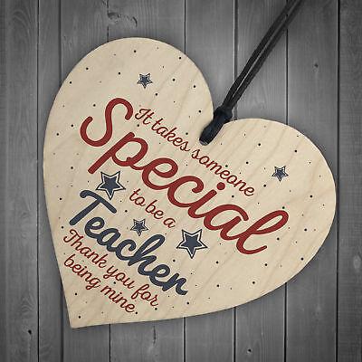 Handmade Hanging Heart Gift For Teacher Leaving Present Thank You Gifts Keepsake 6