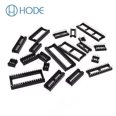 IC Sockets DIP-6P 40P Pin Round Adaptor Solder Gold Plated Narrow/WIDE UK 5