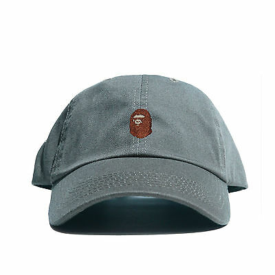 c6e2bd17a108 ... Embroidered Dad Hat (BATHING APE HEAD supreme AAPE unsturctured ALL  COLOR 9