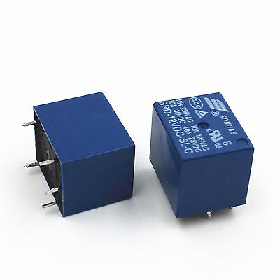 1 of 2FREE Shipping 12V DC Coil SONGLE Power Relay SRD-12VDC-SL-C PCB Type pack