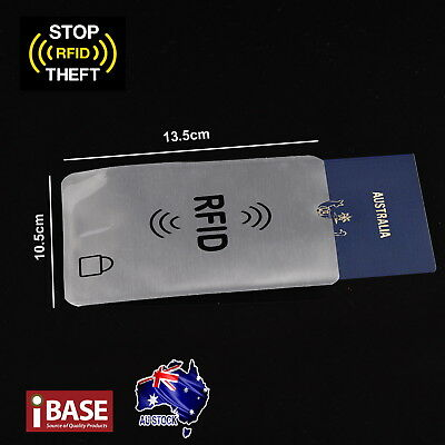 RFID Blocking Sleeve Secure Credit Card ID Protector Anti Scan Safet 2xL + 5xS 3