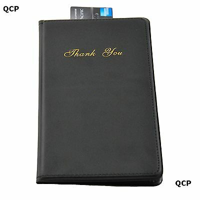 CLASSIC BILL PRESENTER - CASHIERS WALLET - BLACK - PACK OF 1, 6, 12 or 24 3