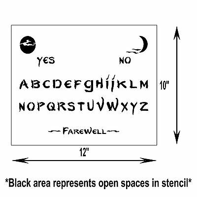 1 Of 3FREE Shipping 10 X 12 Ouija Spirit Ghost Board STENCIL Spooky Halloween Moons Craft