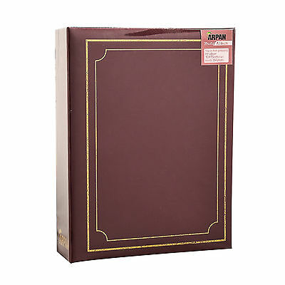 "6.99Traditional 6"" X 4""  Photo Album with 200 Pockets Black, Blue or Burgundy 2"