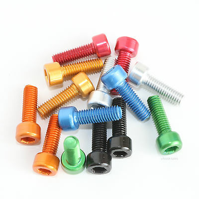 EASTERN POWER 4 Pcs MTB Water/Bottle/Cage/Bolts/M5/x/15mm Bottle Cage Bolts for Mountain Bike Road Bicycle Cycling/Water Bottle Holder Screws Anodized Black//Blue//Red//Orange