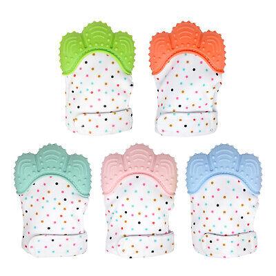 Silicone Baby Teether Teething Mitten Mitt Glove Safe BPA Free Chew Dummy Toy 2