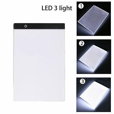 A4 USB LED Artist Tattoo Stencil Board Light Box Tracing Drawing Board Pad Table 5