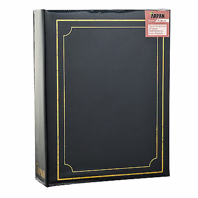"6.99Traditional 6"" X 4""  Photo Album with 200 Pockets Black, Blue or Burgundy 4"