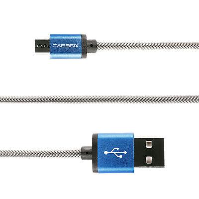 2x Micro USB Kabel 2m Schnellladekabel Huawei PS4 LG Samsung S5 S6 S7 XBOX Blau 3