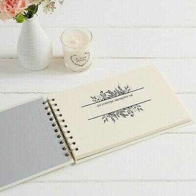 A5 Luxury Ivory Memory Book & 2 Signs Set - Funeral, Condolence Book, Memorial 3