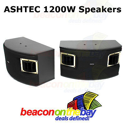 ASHTEC 1200w Bluetooth Mixer Amplifier Speakers Cordless Microphone Karaoke DJ 5