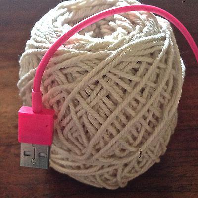 1.5mm-2mm Natural Cream Cotton Rope - macrame/pot hanger/loom/weave/boho/wallart 3