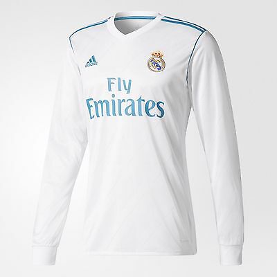 cheap for discount 6ceaf 69df1 ADIDAS CRISTIANO RONALDO Real Madrid Long Sleeve Home Jersey 2017/18 Fifa  Patch.