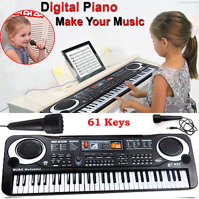 61 Keys Digital Electric Piano Music Electronic Keyboard Organ Mini Microphone 4