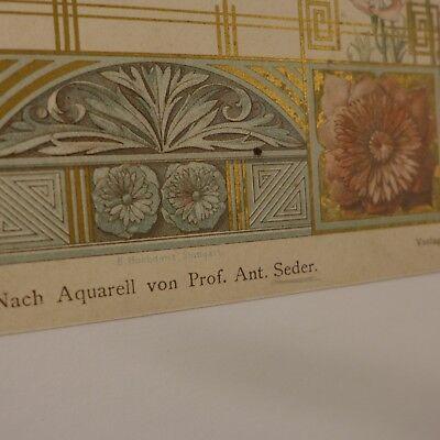 Moderne Wandmalerei Plafond  ,Chromolithografie 19. Jhdt. 3