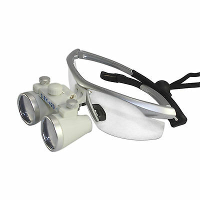 915ac5d5f87f39 8 sur 9 Dentaire Chirurgie binoculaire Loupes Lunettes Loupe 3.5X 420 mm+LED  Headlamp