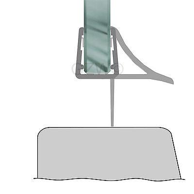 Duschdichtung Wasserabweiser Duschprofil Streifdichtung Schwall 5-8 mm, 20cm-2m 4