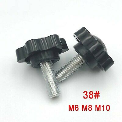 M4 M5 M6 M8 M10 Sechszackiger Sterngriff Sternschraube Kreuzgriff Klemmschraube