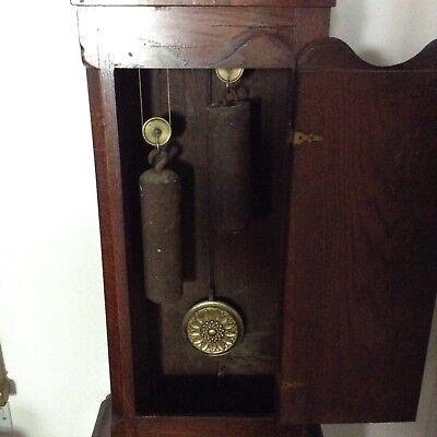 Antique Oak Grandfather Clock 6