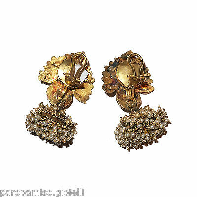 Tamil Nadu Earrings, 22k Gold-Rubis-Basra Pearls  (0729) 3 • CAD $6,521.84