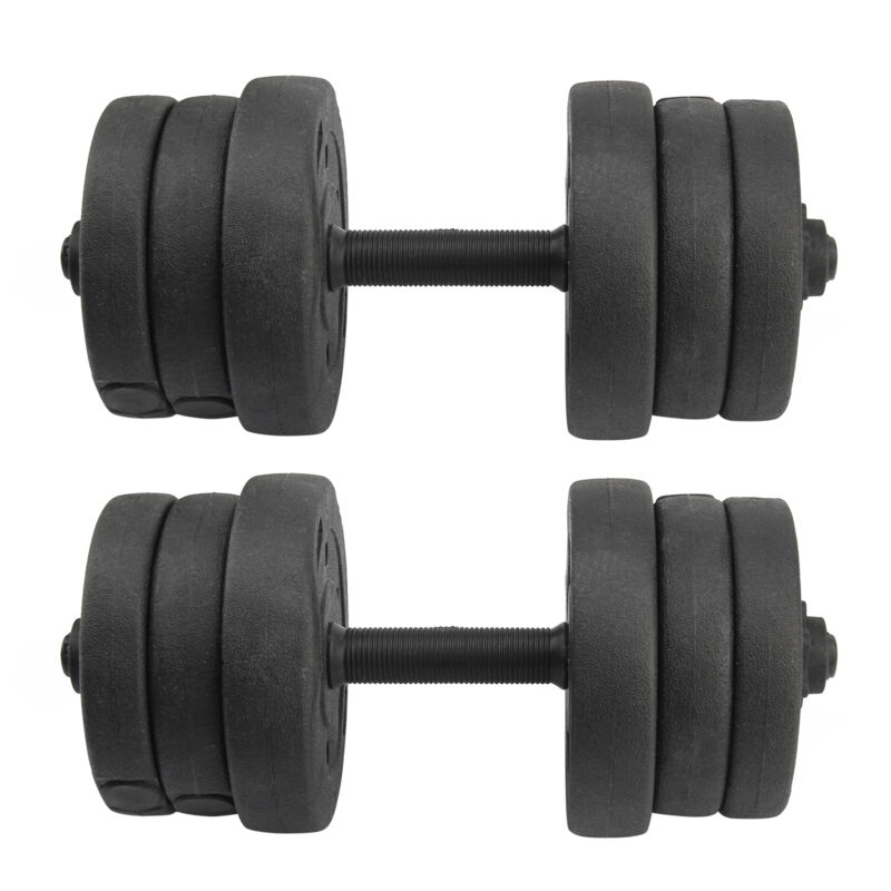 20KG Weights Dumbbell Set Gym Workout Fitness Biceps Home Sport Training 4