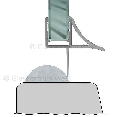Duschdichtung Wasserabweiser Duschprofil Streifdichtung Schwall 5-8 mm, 20cm-2m 12