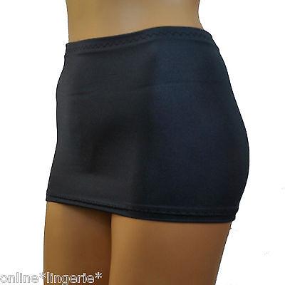 Mini Skirt Micro Short Party Black UV Glow Neon Lycra Stretch Club Dancer CS144