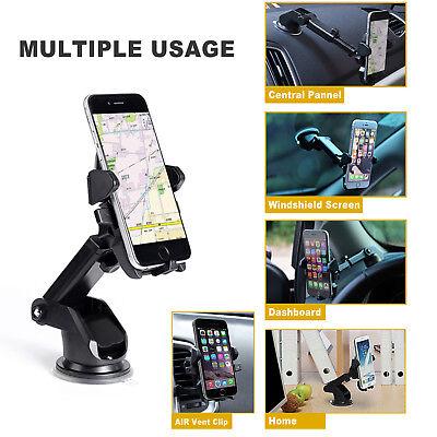 Universal 360° Windshield Mount Car Holder Cradle For GPS Mobile Smart Phone 2