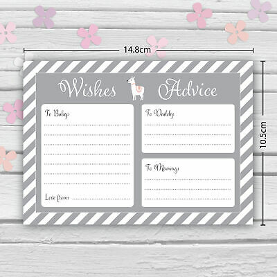 Baby Shower Game - 30 BABY PREDICTION /ADVICE /WISHES CARDS with KEEPSAKE POUCH 5